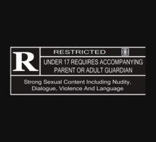 Rated R Warning Kids Tee