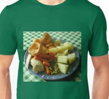 A Traditional English Roast Chicken Dinner Unisex T-Shirt