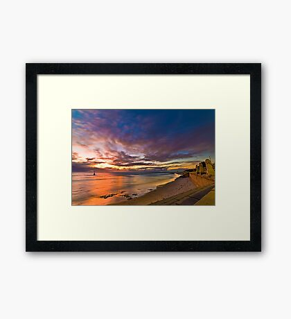 Sunset at Cottesloe 2 Framed Print