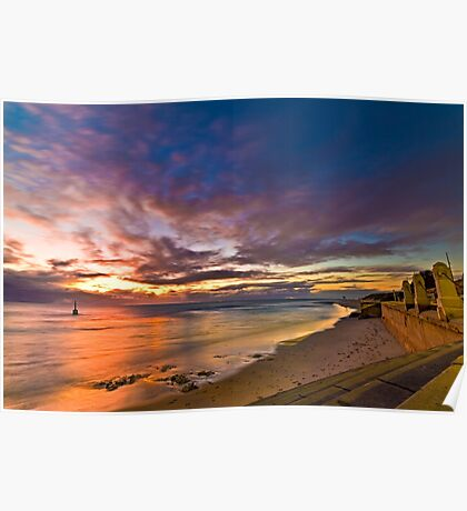 Sunset at Cottesloe 2 Poster