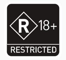 Rated R 18+ Warning Kids Tee