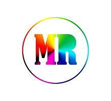 Madratter Rainbow Initial Design Photographic Print