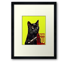 Judging You Framed Print
