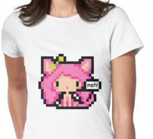 Pixel Art Neko Girl - Pink Womens Fitted T-Shirt