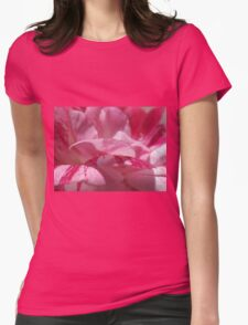 Candy Cane Petals  Womens Fitted T-Shirt