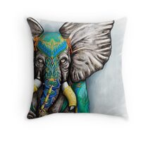 """Elegant Elephant"" Throw Pillow"