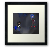 Le fight of the battle. Framed Print