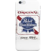 Pabst Blue Ribbon Beer Distressed iPhone Case/Skin