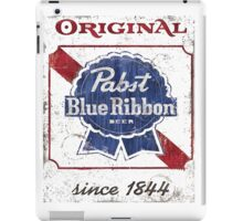 Pabst Blue Ribbon Beer Distressed iPad Case/Skin