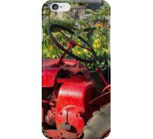 Red Garden Tractor featured in boutique garden iPhone Case/Skin