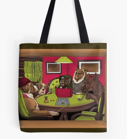 Dogs Playing Dungeons & Dragons Tote Bag