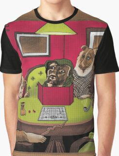 Dogs Playing Dungeons & Dragons Graphic T-Shirt