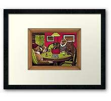 Dogs Playing Dungeons & Dragons Framed Print