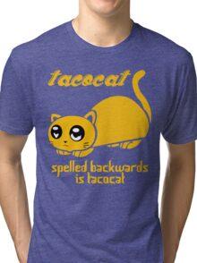Funny Taco Cat Tri-blend T-Shirt