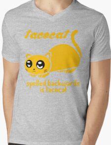 Funny Taco Cat Mens V-Neck T-Shirt