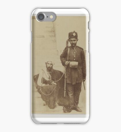 soldier and his prisoner iPhone Case/Skin