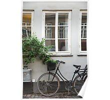 Windows and Bicycle, Copenhagen Poster