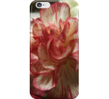 Red and White Carnation iPhone Case/Skin