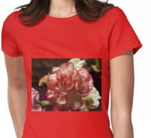 Red and White Carnation Womens Fitted T-Shirt