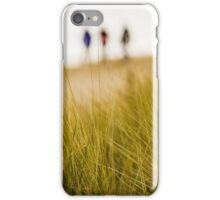 Dune grass with people on beach iPhone Case/Skin