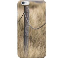 Footpath posts through dunes iPhone Case/Skin