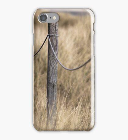 Footpath posts through dunes iPhone Case/Skin
