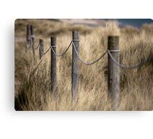 Footpath posts through dunes Canvas Print
