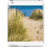 Path through sand dunes to beach iPad Case/Skin