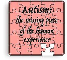 Autism: The Missing Piece Canvas Print