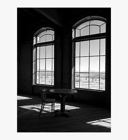 Table and Chair and The Windows Photographic Print
