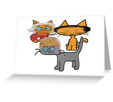Cats Wait To Debate!  Greeting Card