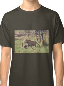 Bengal Tigers Sparring In A Marsh Classic T-Shirt