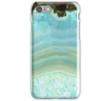 Girly Chic Aqua Blue Gray Agate Geode Rock Crystal Patterns iPhone Case/Skin