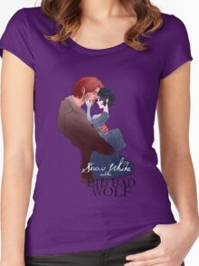 Snow White and the Big Bad Wolf Women's Fitted Scoop T-Shirt