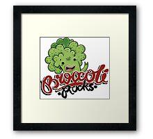Broccoli Rocks  Framed Print
