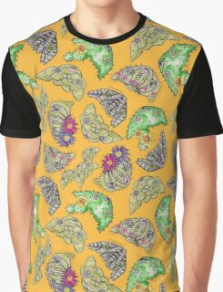 """""""Oro?"""" Cactus with Flowers -Mustard Graphic T-Shirt"""