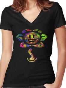 Flowey - Undertale (Colour) Women's Fitted V-Neck T-Shirt