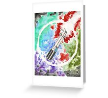 Anakin Light Saber Greeting Card