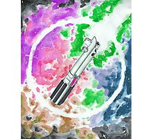 Anakin Light Saber Photographic Print
