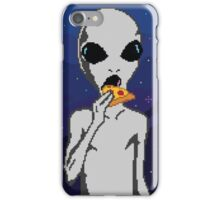 Pizza Alien / 8 - Bit iPhone Case/Skin