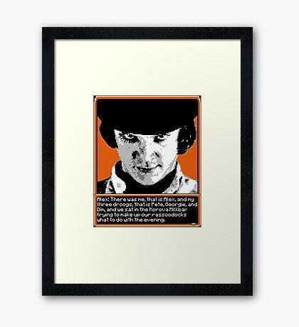 A Clockwork Orange - 8-bit Framed Print