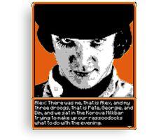 A Clockwork Orange - 8-bit Canvas Print