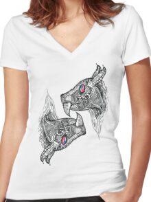 Vampire Bat Country Women's Fitted V-Neck T-Shirt
