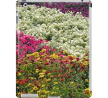 Colorful rows of flowers in the park. iPad Case/Skin