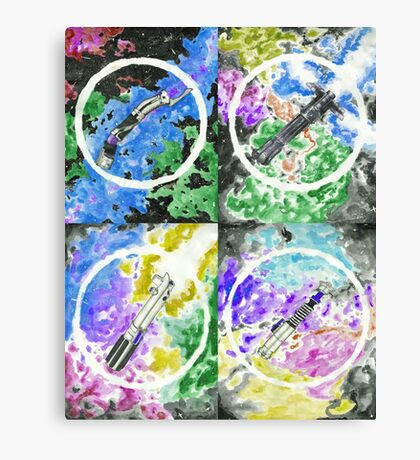 Light saber pattern Canvas Print