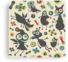 Happy Monsters Love Canvas Print