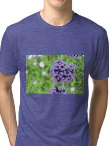 Macro on purple spring flowers. Tri-blend T-Shirt