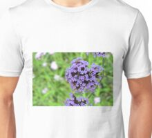 Macro on purple spring flowers. Unisex T-Shirt