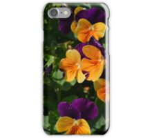 Colorful orange and purple flowers background. iPhone Case/Skin