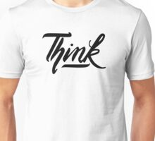 Think Calligraphy - Black Unisex T-Shirt